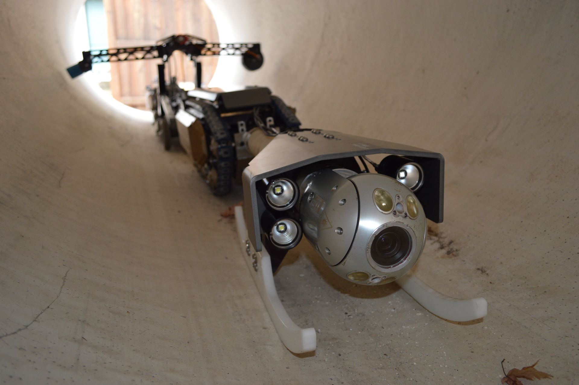Purerobotics pipeline inspection system pure for Leaky pipe carries more water