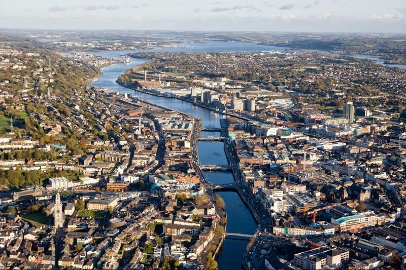 Aerial view of the City of Cork