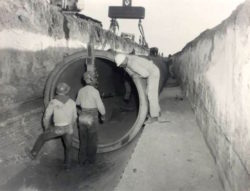 Historical pipe installation